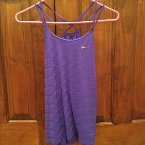 Nike Purple Dri-Fit running tank top